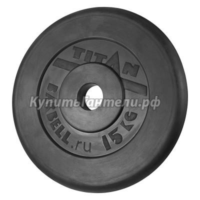 Блин обрезиненный TITAN Barbell 15 кг (d51)